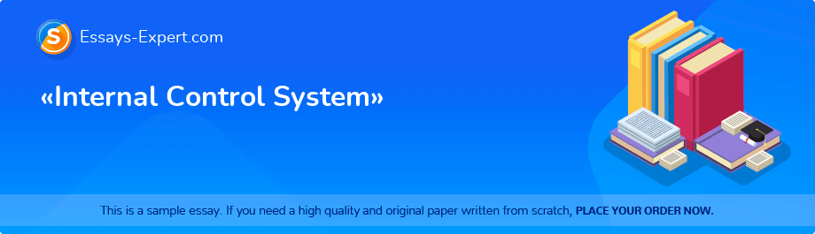 Free Essay Sample «Internal Control System»
